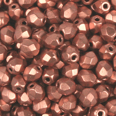 GB8-242 - Czech fire-polished beads - Crystal bronze copper metallic