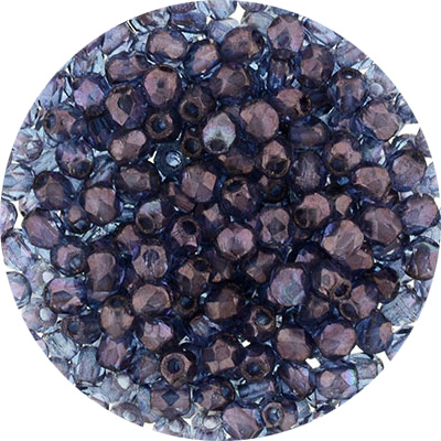 GB1-480L - Czech fire-polished beads - lustre transparent amethyst