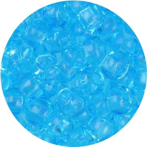SB6-63 - Czech size 6 seed beads, transparent - aquamarine