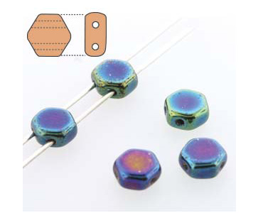 Category 2-hole Czech Honeycomb beads