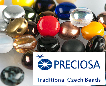 Category 2-hole Czech Candy Beads from Preciosa