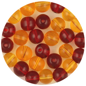 GB241T mixes round pressed transparent glass beads - mixes