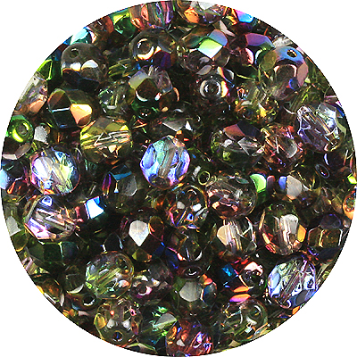 GB7-224 Czech fire-polished beads magic violet green(magic orchid)