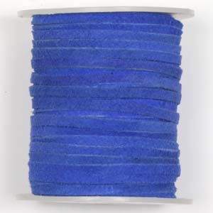 S136 Royal flat leather cord - royal blue