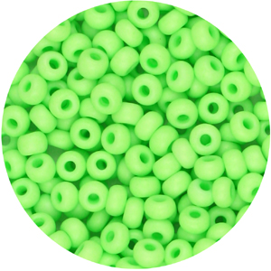 SB6-125 Czech size 6 seed beads, opaque - neon green