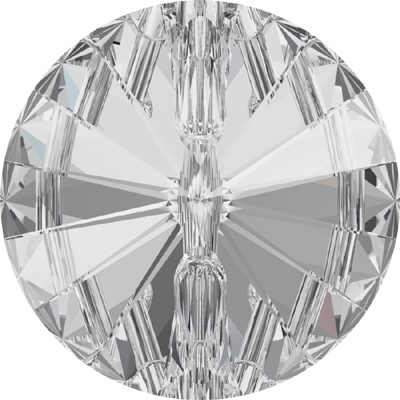 3015 18mm 001 Swarovski crystal button - crystal