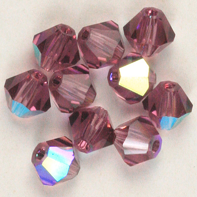 CGB9C AB Colours - Czech crystal bicones - AB colours