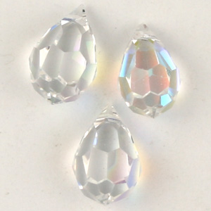 CGP4C-1 faceted pendant crystal ab - top hole