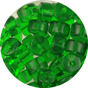 GB245T std cols - rondelle pressed transparent glass beads - standard colours