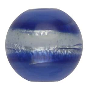 GB270-6 Indian glass lamp bead, silver foiled round - blue