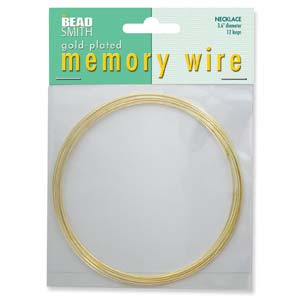 S131-1 memory wire necklace gold