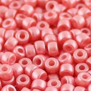 SBP8-339 Matubo Czech size 8 seed beads - pastel light coral
