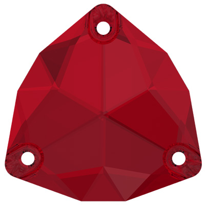3272 28mm PLAIN 276 - Swarovski trilliant sew-on stone - scarlet