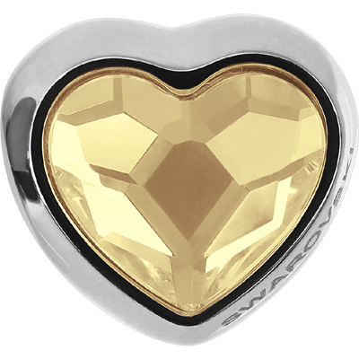 81951 001 GSHA - BeCharmed Heart Bead Crystal Golden Shadow