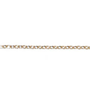 C10-7 - cable chain 2mm link, 0.45mm wire - rose gold