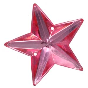 PES6 - 22mm star plastic stone