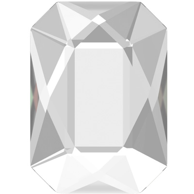 2602 14x10mm 001 NHF - Swarovski emerald cut flatbacks - crystal