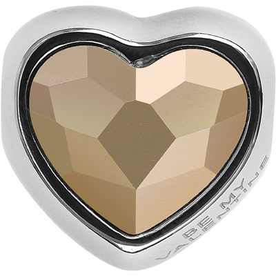 82081 001 ROGL - BeCharmed Heart Bead Valentines Edition - Crystal Rose Gold