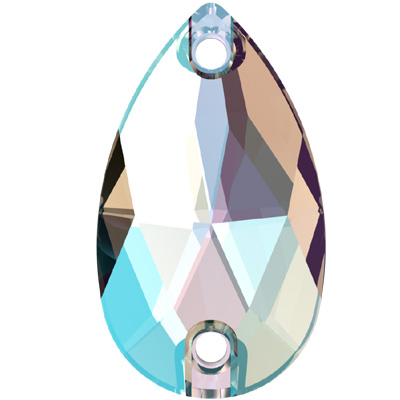 3230 28x17mm 001 SH - Swarovski pear sew-on stone - crystal shimmer