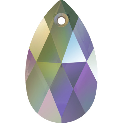 6106 28mm 001 PARSH - Swarovski pear shape pendant - crystal paradise shine