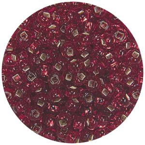 SB8-7 - Preciosa Czech seed beads - silver lined red