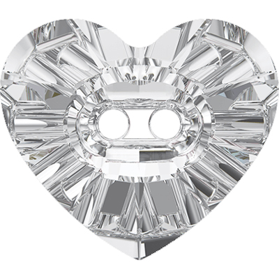 3023 12x10.5mm 001 - Swarovski heart crystal button - crystal