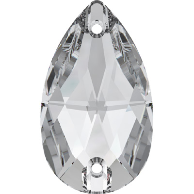 3230 28x17mm 001 - Swarovski pear sew-on stone - crystal