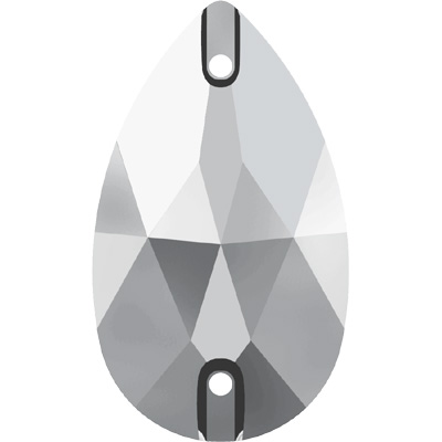 3230 12x7mm 001 LTCH - Swarovski pear sew-on stone - crystal light chrome
