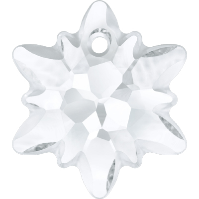 6748/G 14mm 001 - Swarovski Edelweiss pendant partly frosted - crystal