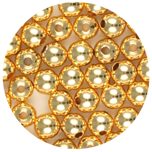 M35-1 - metal bead - gold plated