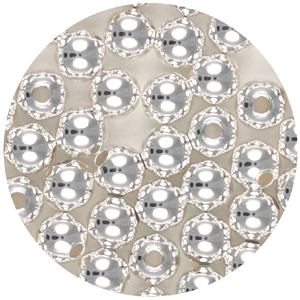 M35-2 - metal bead - silver plated