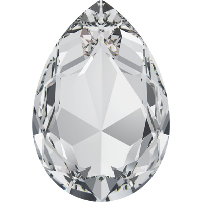 4327 30x20mm 001 - Swarovski pear fancy stone - crystal