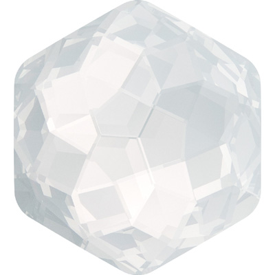 4683 7.8x8.7mm OPAL 234 - Swarovski fantasy hexagon fancy stone - white opal