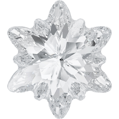 4753 23mm 001 - Swarovski edelweiss fancy stone - crystal