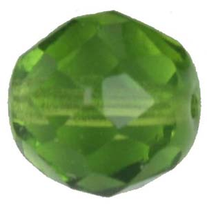GBFP06 COLS 55 - Czech fire-polished beads - olivine