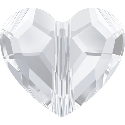 5741 12mm 001 - Swarovski love beads - crystal