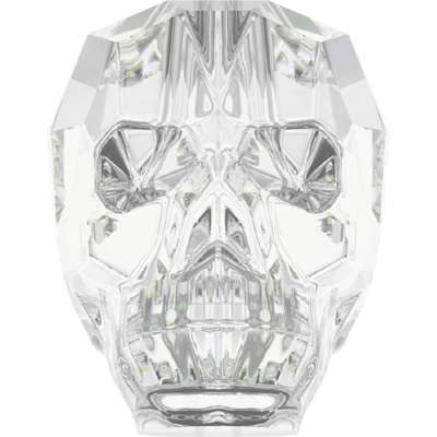 5750 13mm 001 - Swarovski skull beads - Crystal