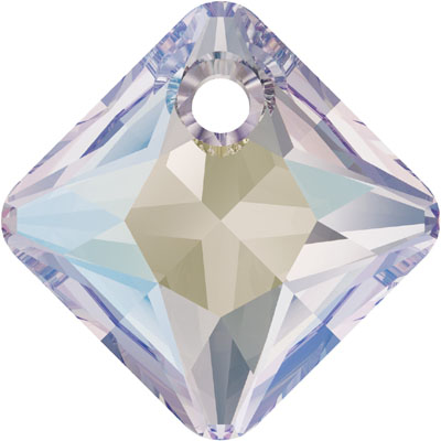 6431 9mm 001 SH - Swarovski princess cut pendant - crystal shimmer