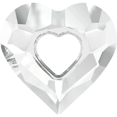 6262 17mm 001 - Swarovski miss U heart pendant - crystal