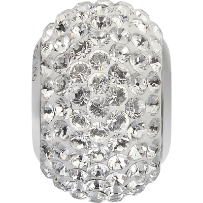 80101 01 001 - BeCharmed Pave Bead Crystal White