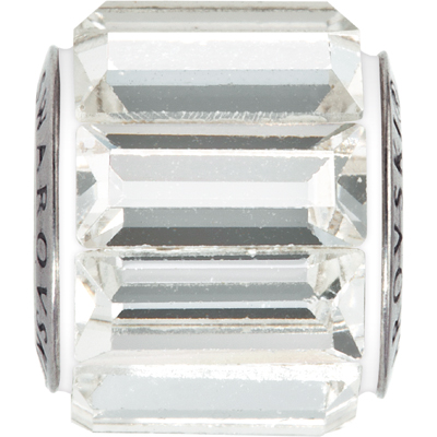80301 01 001 - BeCharmed Pave Bead baguette - Crystal White