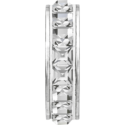 81001 01 001 - BeCharmed Pave Stopper Crystal/White