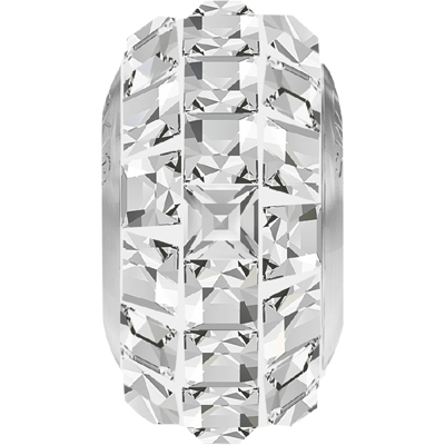 81201 001 - BeCharmed Pave Bead Slim Crystal/White