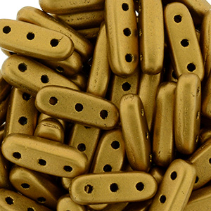 CMBM-244 - CzechMates Beam Beads - goldenrod matt metallic