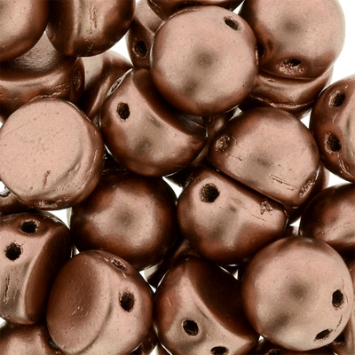 CMCAB-242 - CzechMates Cabochons - Bronze Copper Matt Metallic