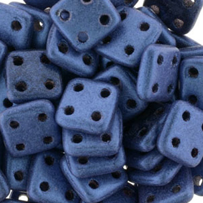 CMQT-275 - CzechMates quadratile beads - metallic suede blue