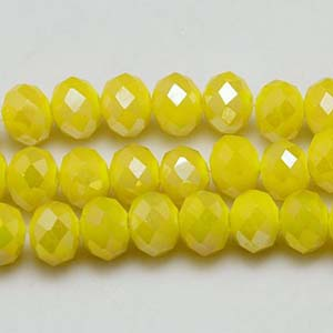 CRB1-124L - puffy rondelle - yellow opal full lustre