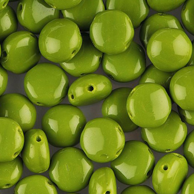 GBCDY08-181 - Czech Candy Beads - opaque olivine