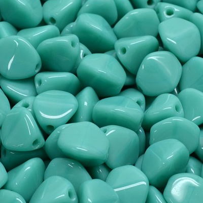 GBPCH-140 - Czech pinch beads - opaque turquoise green