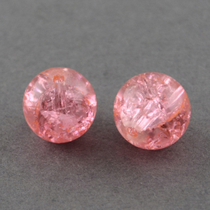 GBCR10-16 - glass crackle beads - pale pink